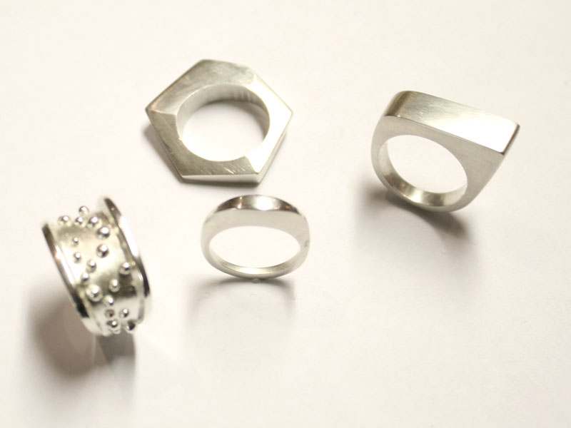 Wax Carved Silver Rings